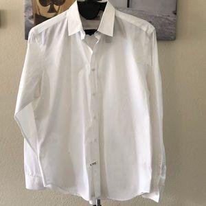 Burberry Shirt, White, 17.5 collar - like new